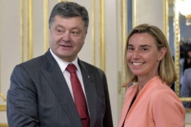 Встреча Порошенко и Могерини