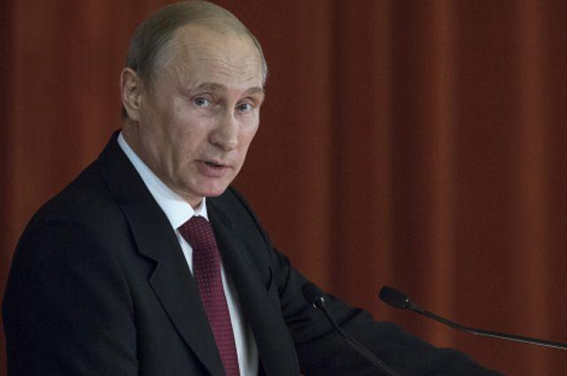 Владимир Путин выступает в особняке МИД РФ на совещании послов и постоянных представителей РФ