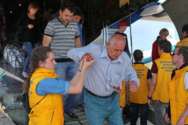 На днях в Ярославскую область прибыл второй самолёт МЧС из Крыма с 121 вынужденным переселенцем из Украины.