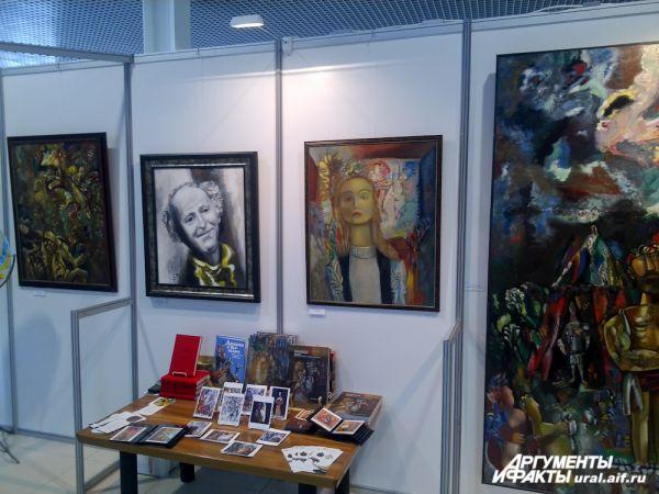 Работы известного художника Миши Брусиловского также нашли свое место на ИННОПРОМе.
