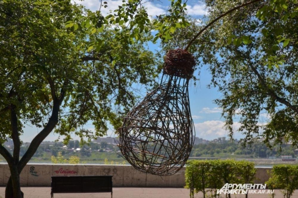 Самая экологичная лампочка появилась на Набережной Ангары.