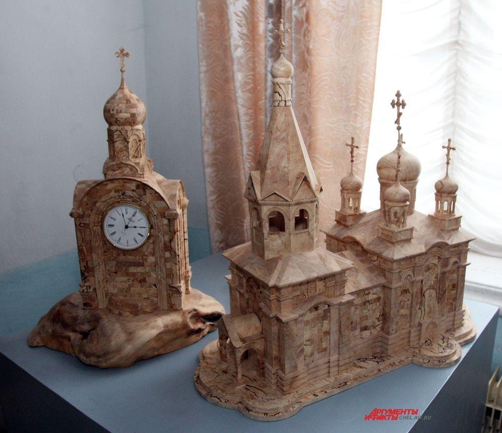 Изделия из березового капа, работы Сергея Захарова