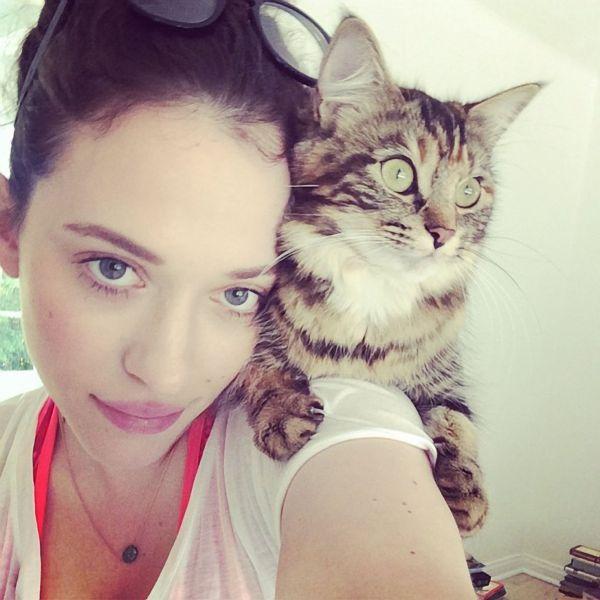 Кэт Деннингс и ее любимый кот