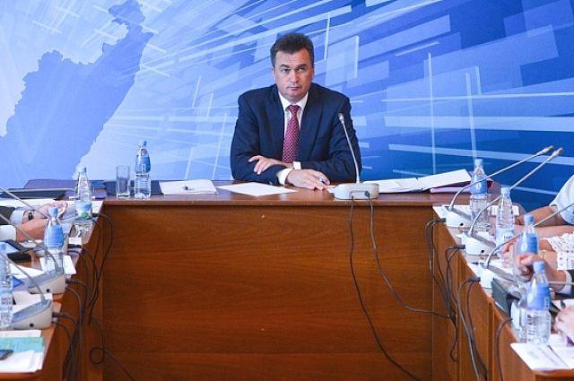 Владимир Миклушевский на выездном заседании Администрации края в Михайловском районе.