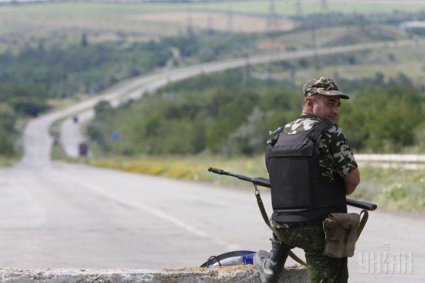 Украинские военные контролируют блокпост