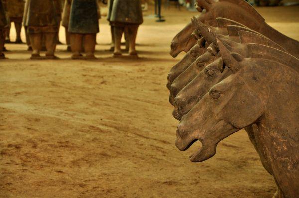 Лошадей глиняного войска изготавливали рядом с «загробным городом». Видимо, чтобы упростить транспортировку, ведь каждая из них весила по 200 кг, в то время как статуя воина – 135 кг.
