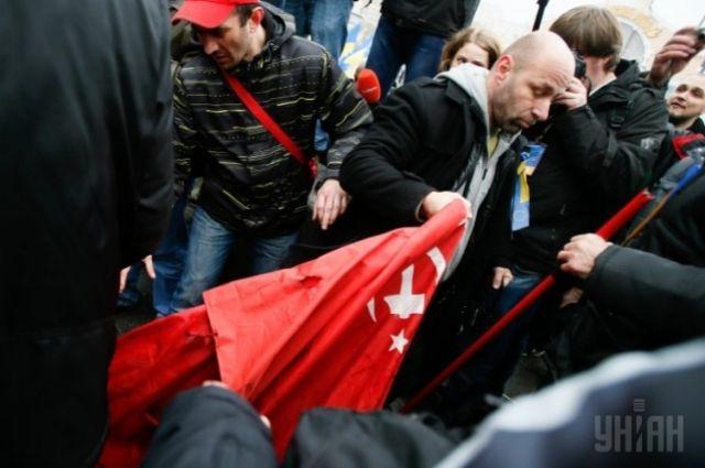КПУ на митинге