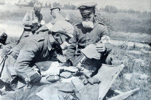 Первая мировая война. Химическая атака.