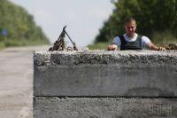 Блокпост украинских военных на Донбассе