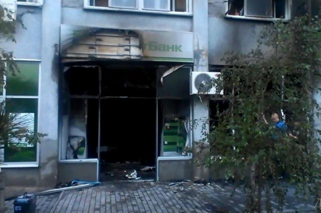 Взорванное отделение «Приватбанка» в Одессе