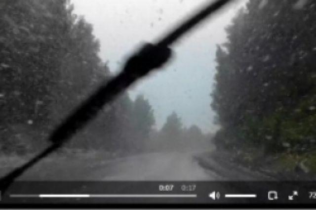 В Челябинской области в выходные выпал снег