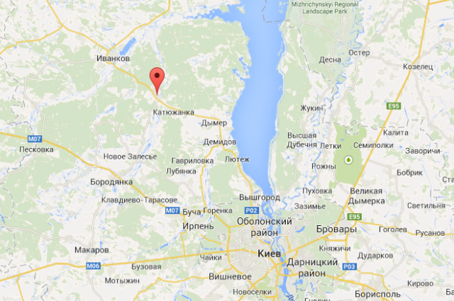 Село Феневичи на онлайн-карте Google