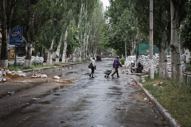 Освобожденный от сепаратистов Славянск