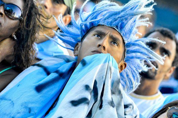 Болельщики за сборную Аргентины на Чемпионате мира по футболу 2014 года