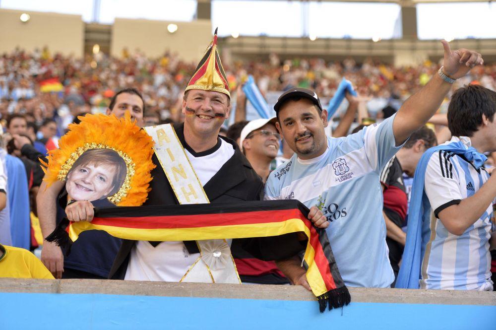 Немецкие и аргентинские фанаты вместе