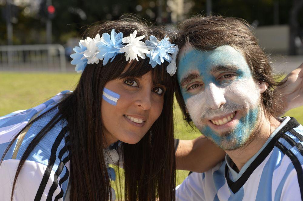 Фото на память. Аргентинские болельщики перед началом финала