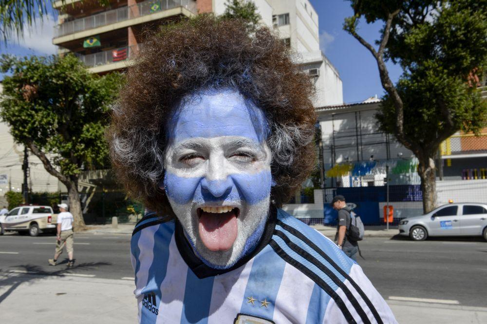 Фанат сборной Аргентины