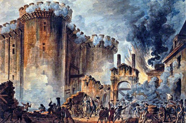 «Взятие Бастилии 14 июля 1789» художника Жан-Пьера Уэля.