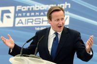 Премьер-министр Великобритании Дэвид Кэмерон в день открытия авиасалона в Фарнборо.