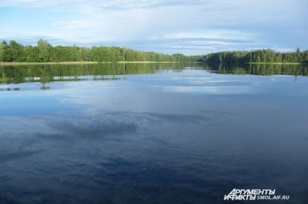Глубина - бесконечна, светла... И доносится мерно с полей Над водой тихий звон из села. (И. А. Бунин. На пруде)