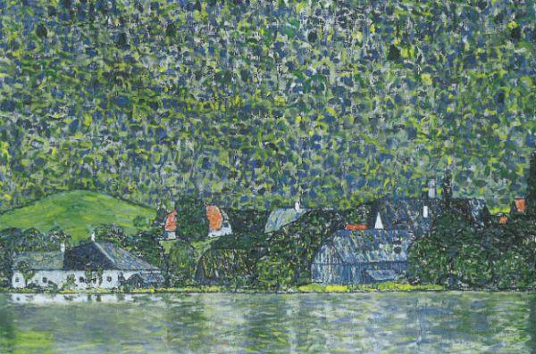 Вместе с семьей Флеге Климт часто отдыхал на озере Аттерхезе. Здесь он написал достаточно много пейзажей, которые по стилю идентичны изображению человеческих фигур.