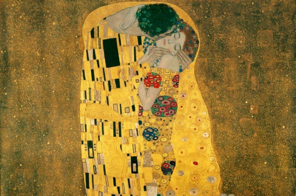 Главный и самый успешный период творчества Климта назван «золотым»: художник использовал позолоты при написании картин. «Дворец Афины» (1898), «Юдифь» (1901), «Поцелуй» (1907-1908) – самые известные работы этого периода.
