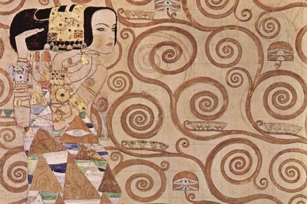 Климт увлекался декоративным искусством в стиле ар-нуво. В 1904 году он в числе других художников расписывал дворец Стокле, который принадлежал бельгийскому промышленнику. Дворец впоследствии был признан одним из самых известных памятников ар-нуво.