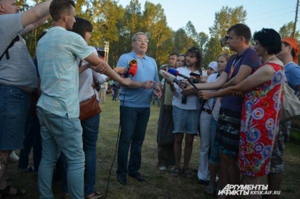 В пятницу фестиваль посетил врио губернатора Виктор Толоконский.