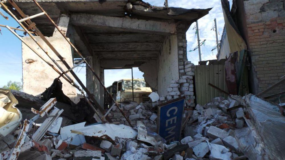 Помещение в Славянске после боевых действий