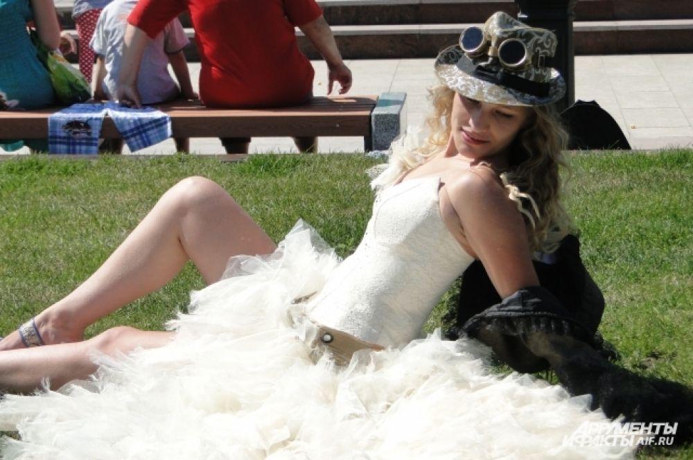 Самая импозантная невеста призналась, что подготовилась к фестивалю за две минуты