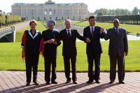 Общее фотографирование глав делегаций стран-участниц БРИКС.