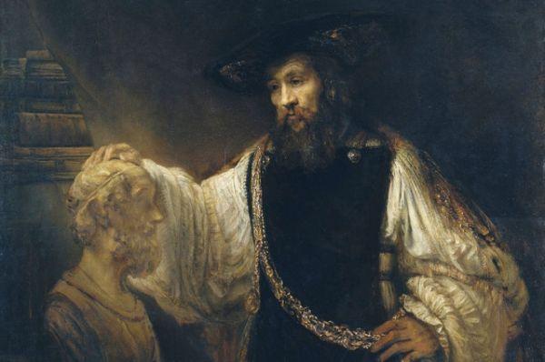 1650-ые годы – период создания крупнофигурных композиций. Пример подобной картины - «Аристотель с бюстом Гомера», написанная художником в 1653 году для сицилийского аристократа Антонио Руффо. В 1961 году наследниками Рембрандта картина была продана на аукционе на аукционе нью-йоркскому Метрополитен-музею за два с лишним миллиона долларов.