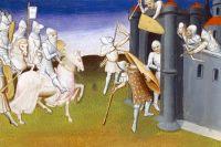 Осада Иерусалима (1099), миниатюра, XV век.