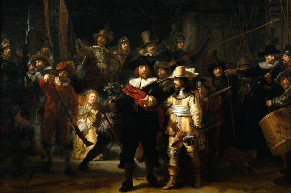 Самое масштабное из своих произведений – четырехметровую картину «Ночной дозор» - Рембрандт создает в 1642 году по заказу Стрелкового общества. Историки искусства говорят, что именно в этой картине Рембрандт перепрыгнул несколько столетий и предсказал художественные находки XIX века – эпохи реализма и импрессионизма: столь живо были изображены фигуры. Однако прототипы персонажей, задвинутых на задний план, нашли картину неудачной. С этого момента слава Рембрандта пошла на убыль. В том же году любимая жена Рембрандта умерла от туберкулеза.