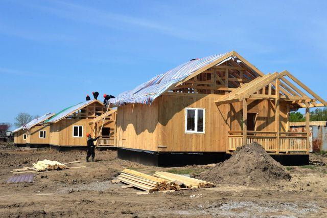Дом на будущей улице, где станут жить подтопленцы