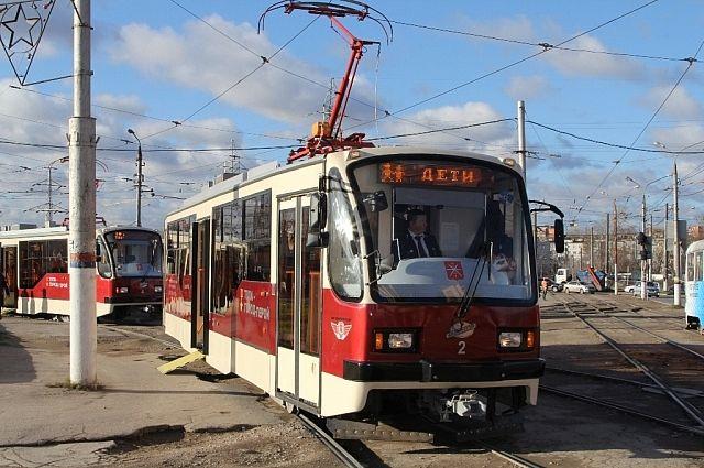 два трамвайных переезда