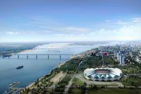 Макет стадиона в Волгограде к чемпионату мира по футболу 2018 года.
