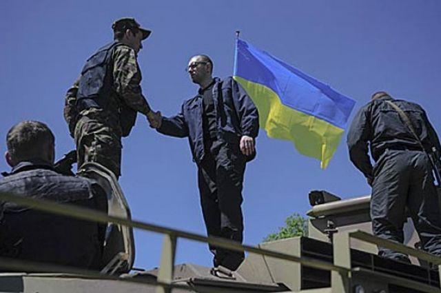 Яценюк в Славянске