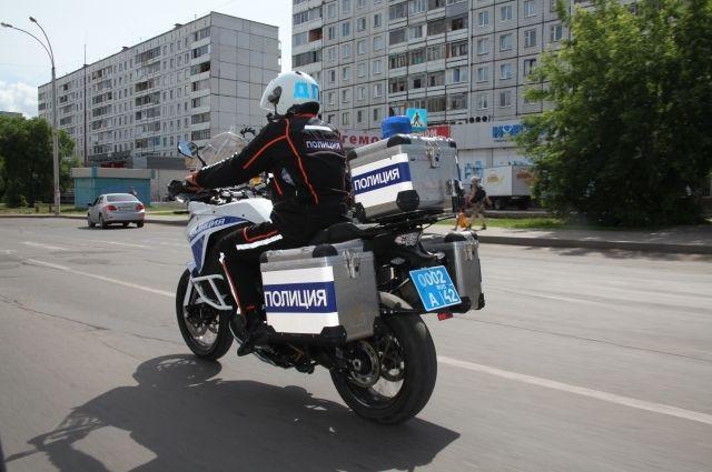 Мотоциклы ГИБДД догонят любого нарушителя.