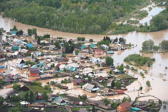Наводнение в Сибири - следствие глобального потепления.