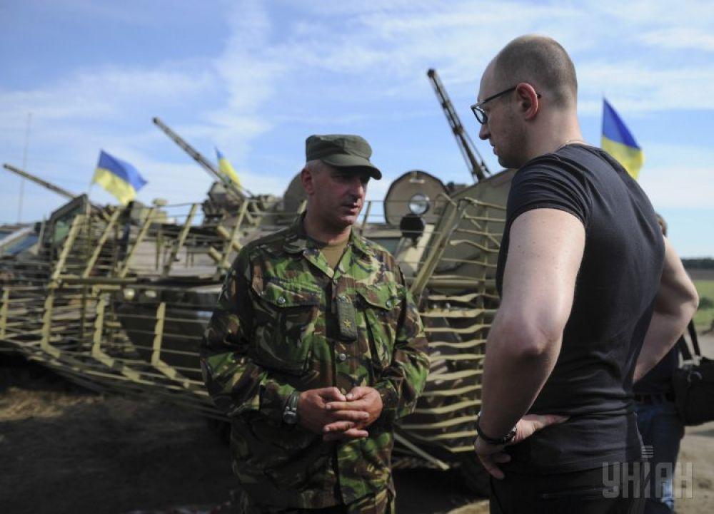 Встреча Арсения Яценюка с представителями Национальной гвардии