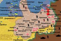 Карта ситуации на Донбассе