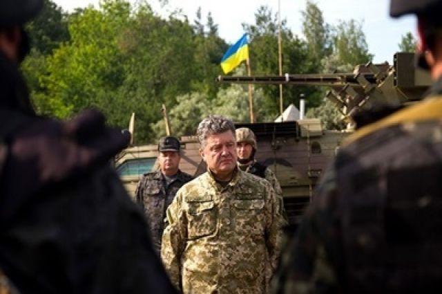 Президент Украины Петр Порошенко в Славянске
