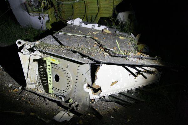 Обломок сбитого самолета малайзийских авиалиний