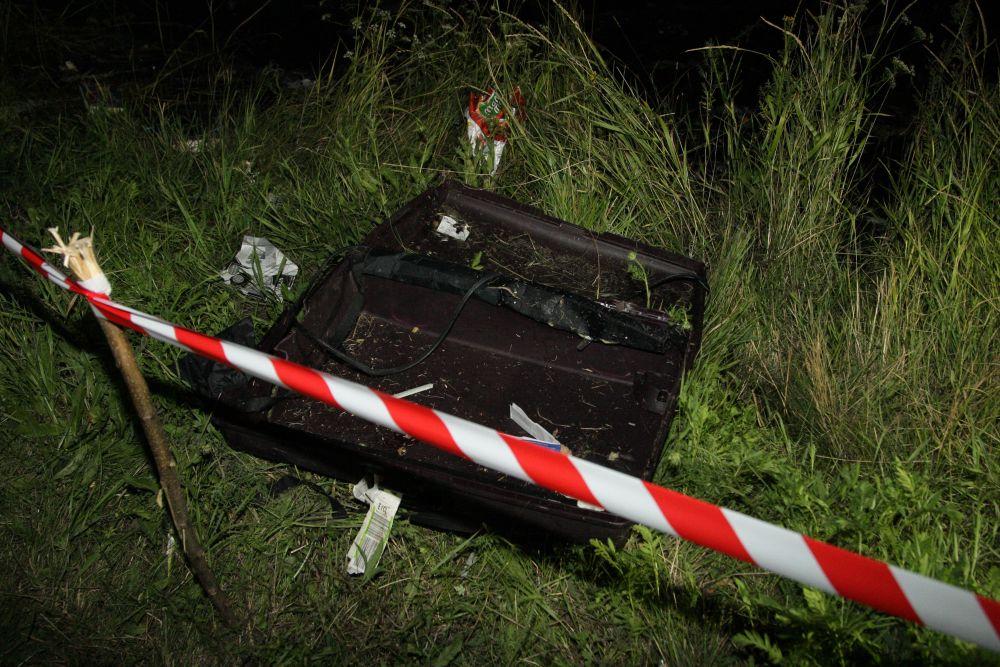 Пассажирская сумка на месте происшествия