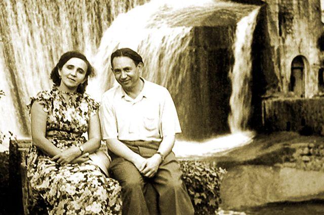 Абдурахман Абсалямов с женой Магинур на отдыхе.