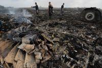Место падения Boeing-777 в Донецкой области