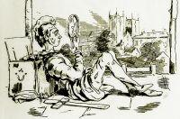 Титульный лист к роману «Ярмарка тщеславия». Художник: Уильям Теккерей. 1848 год.