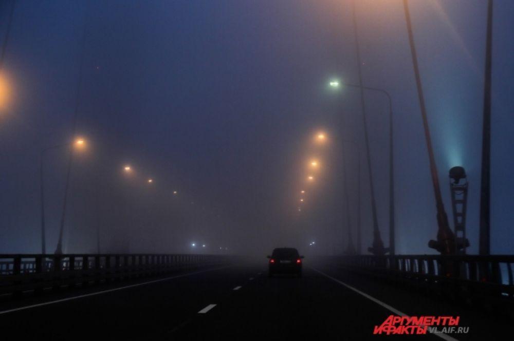 Владивосток. Мост. Туман.