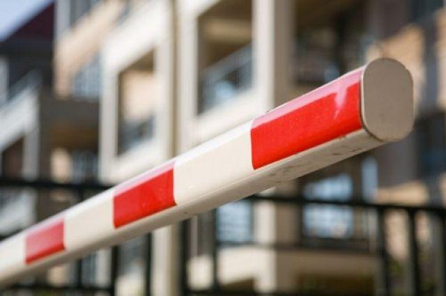 Шлагбаум установят для пропуска пассижирского транспорта.